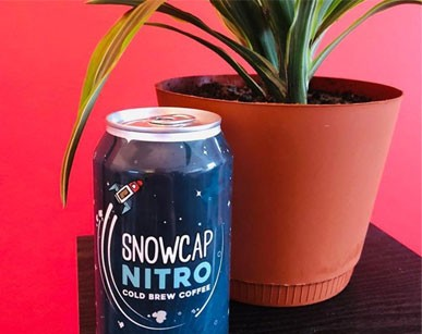 navy snowcap nitro cold brew coffee can