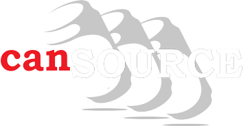 white and red cansource logo